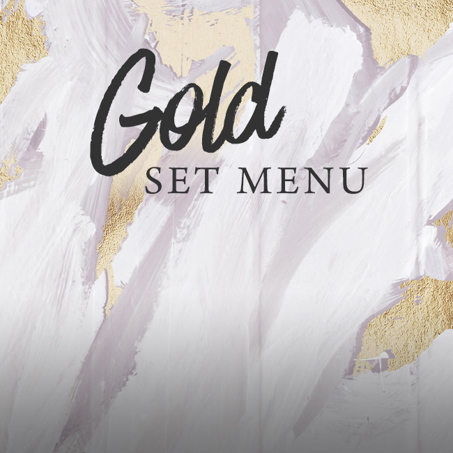 Gold set menu at The Seahorse