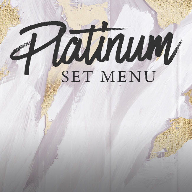 Platinum set menu at The Seahorse