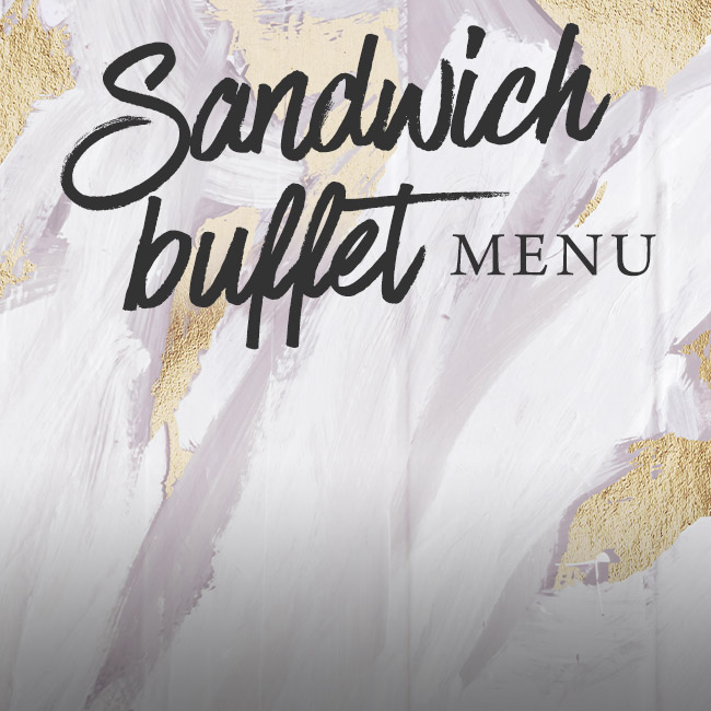 Sandwich buffet menu at The Seahorse