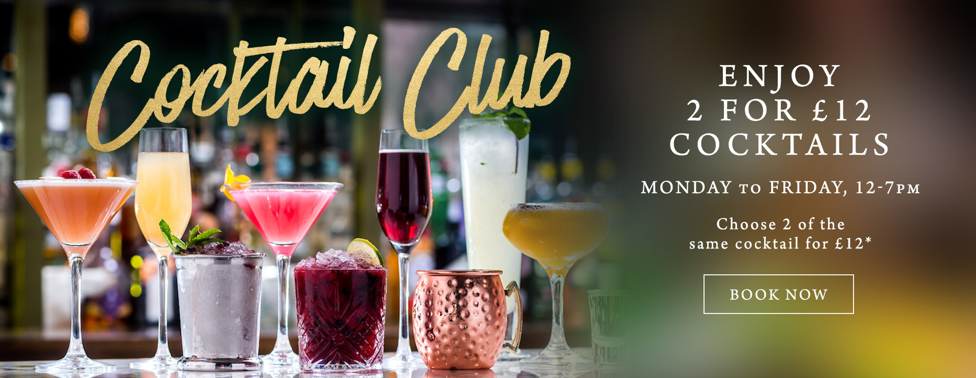 2 for £12 cocktails at The Seahorse